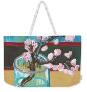 Almond Blossoms In A Glass Weekender Tote Bag