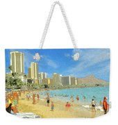 Aloha From Hawaii - Waikiki Beach Honolulu Weekender Tote Bag