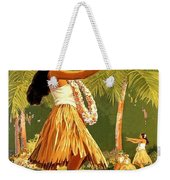 Aloha Hawaii, Hula Girl Dance Weekender Tote Bag