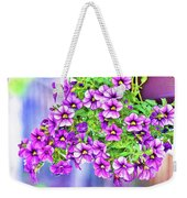Aloha Purple Sky Calibrachoa Abstract II Weekender Tote Bag