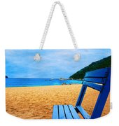 Alone And Blue Weekender Tote Bag