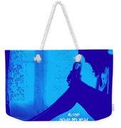 Alone In Blue Weekender Tote Bag