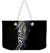 Zebra Fade Into Light Weekender Tote Bag