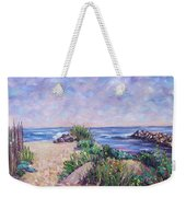 Along The Breachway Rhode Island Weekender Tote Bag