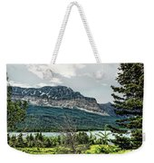 Along The Road To Many Glacier 4 Weekender Tote Bag