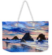 Along The Rocky Coast Weekender Tote Bag