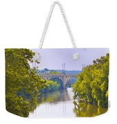 Along The Schuylkill River In Manayunk Weekender Tote Bag by Bill Cannon
