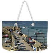 Along The South Pier - Newquay Harbour Weekender Tote Bag
