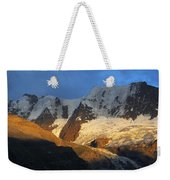 Alpenglow On The Swiss Alps Near Murren Weekender Tote Bag