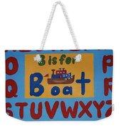 Alphabet Boat Weekender Tote Bag