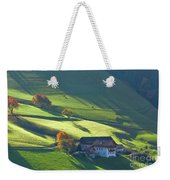 Alpine Farm And Meadows In Autumn Weekender Tote Bag