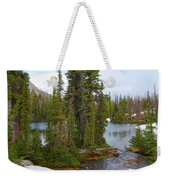 Alpine Lake Area Weekender Tote Bag