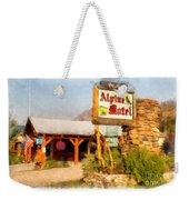Alpine Motel Vintage Roadside Oasis Yellowstone Weekender Tote Bag