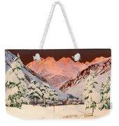 Alpine Mountain Scene Weekender Tote Bag