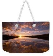 Alpine Sunset Weekender Tote Bag