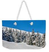 Alpine Winter Weekender Tote Bag