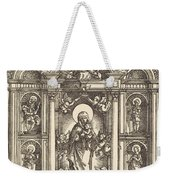 Altar With The Virgin And Child And Saints Christopher, Barbara, George And Catherine Weekender Tote Bag