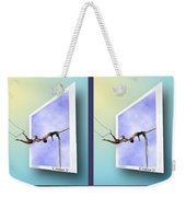 Alternate Universes - Gently Cross Your Eyes And Focus On The Middle Image Weekender Tote Bag