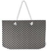 Aluminum Hole Texture Silver Metal Circle Steel Weekender Tote Bag