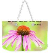 Always Flowers Weekender Tote Bag
