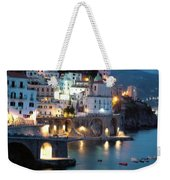 Amalfi Coast At Night Weekender Tote Bag