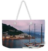Amalfi Harbor Sunset Weekender Tote Bag