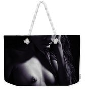 Amani African American Nude Sensual Sexy Fine Art Print In Sepia 4927.01 Weekender Tote Bag
