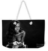Amani African American Nude Sensual Sexy Fine Art Print In Sepia 4935.01 Weekender Tote Bag