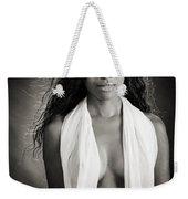 Amani African American Nude Sensual Sexy Fine Art Print In Sepia 4980.01 Weekender Tote Bag