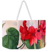 Amaryllis And Begonia Weekender Tote Bag