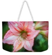 Amaryllis And Tree Frog Painted  Weekender Tote Bag