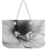 Amaryllis Flower Bloom In Black And White Weekender Tote Bag
