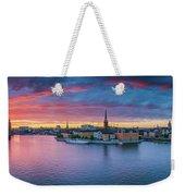 Dramatic Sunset Over Stockholm Weekender Tote Bag