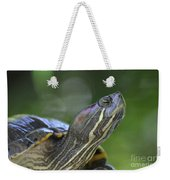 Amazing Close-up Painted Turtle Resting Weekender Tote Bag