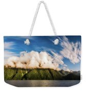 Amazing Cloud Formation At Lake Manapouri In New Zealand Weekender Tote Bag