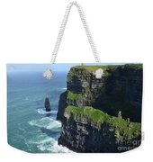 Amazing Look At The Sea Cliff's Of Moher In Ireland Weekender Tote Bag