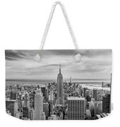 Amazing Manhattan Bw Weekender Tote Bag