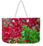 Amazing Nature Blessings Magic Colors Cherry Red Green Shrubs Plants Save  The Environment Weekender Tote Bag
