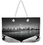 Amazing Panorama Reflection Of Dubai Jumeirah Beach, Dubai, United Arab Emirates Weekender Tote Bag