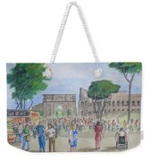 Amber At The Roman Coliseum Weekender Tote Bag