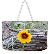 Amber Wheels Blanket Flower Weekender Tote Bag