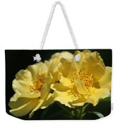 Amber Yellow Country Rose Weekender Tote Bag