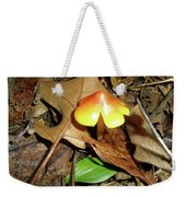 Amberina Mushroom - Tiny Jewel In The Forest Weekender Tote Bag