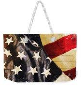 America Flag Pattern Postcard Weekender Tote Bag