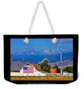 America The Beautiful Poster Weekender Tote Bag