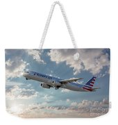 American Airlines A321-231 N917uy Weekender Tote Bag