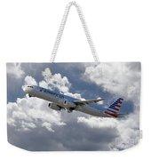 American Airlines Airbus A321 Weekender Tote Bag