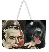 American Akita Art Canvas Print - Rear Window Movie Poster Weekender Tote Bag