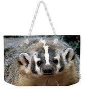 American Badger On Alert Weekender Tote Bag