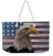 American Bald Eagle And American Flag Weekender Tote Bag